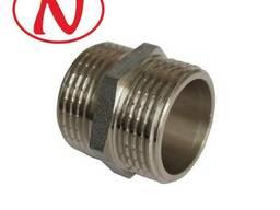 """Brass Nippel 1/2""""M-1""""M (Nikel) /HS"""