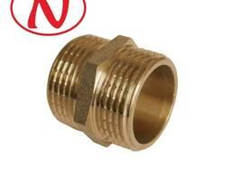 Brass Nippel 1/2M-1/2M /HS