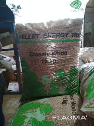 Wood pellet from manufacturer. UA