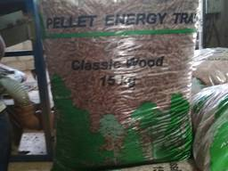 Wood pellet from manufacturer. UA